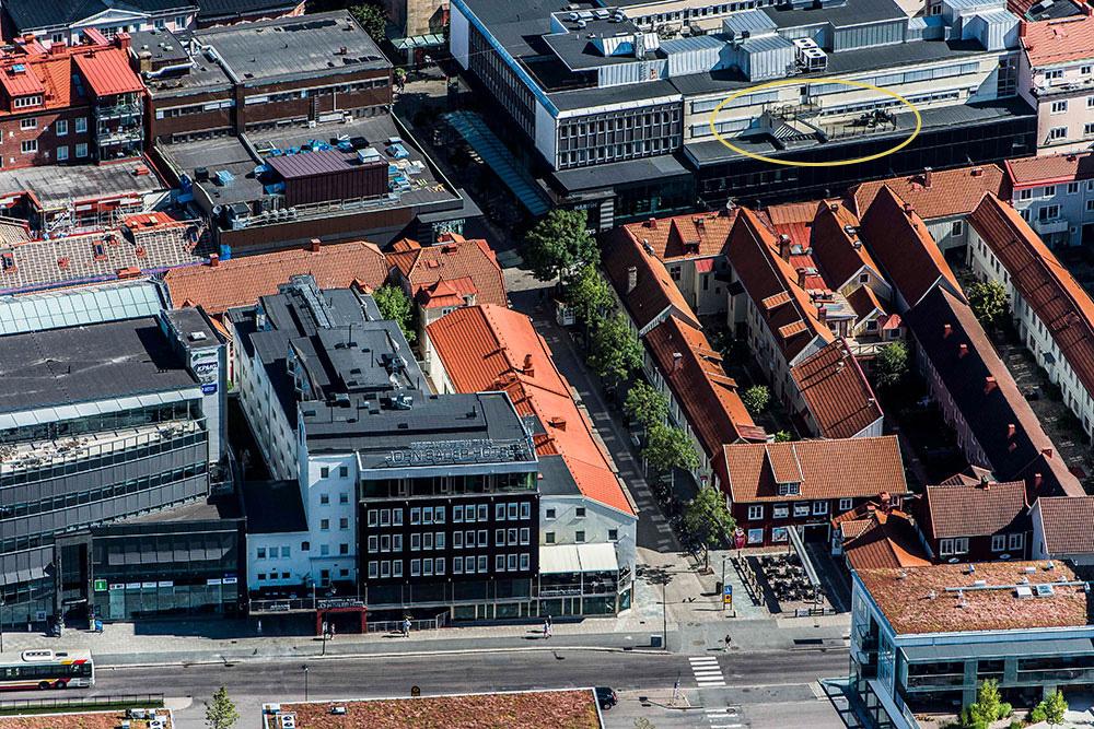 Ledig lokal med utsikt över Jönköping city