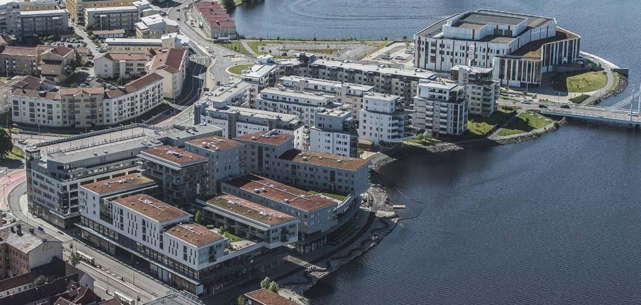 Vy över atollen i Jönköping